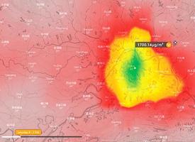 武漢大氣現高濃度二氧化硫
