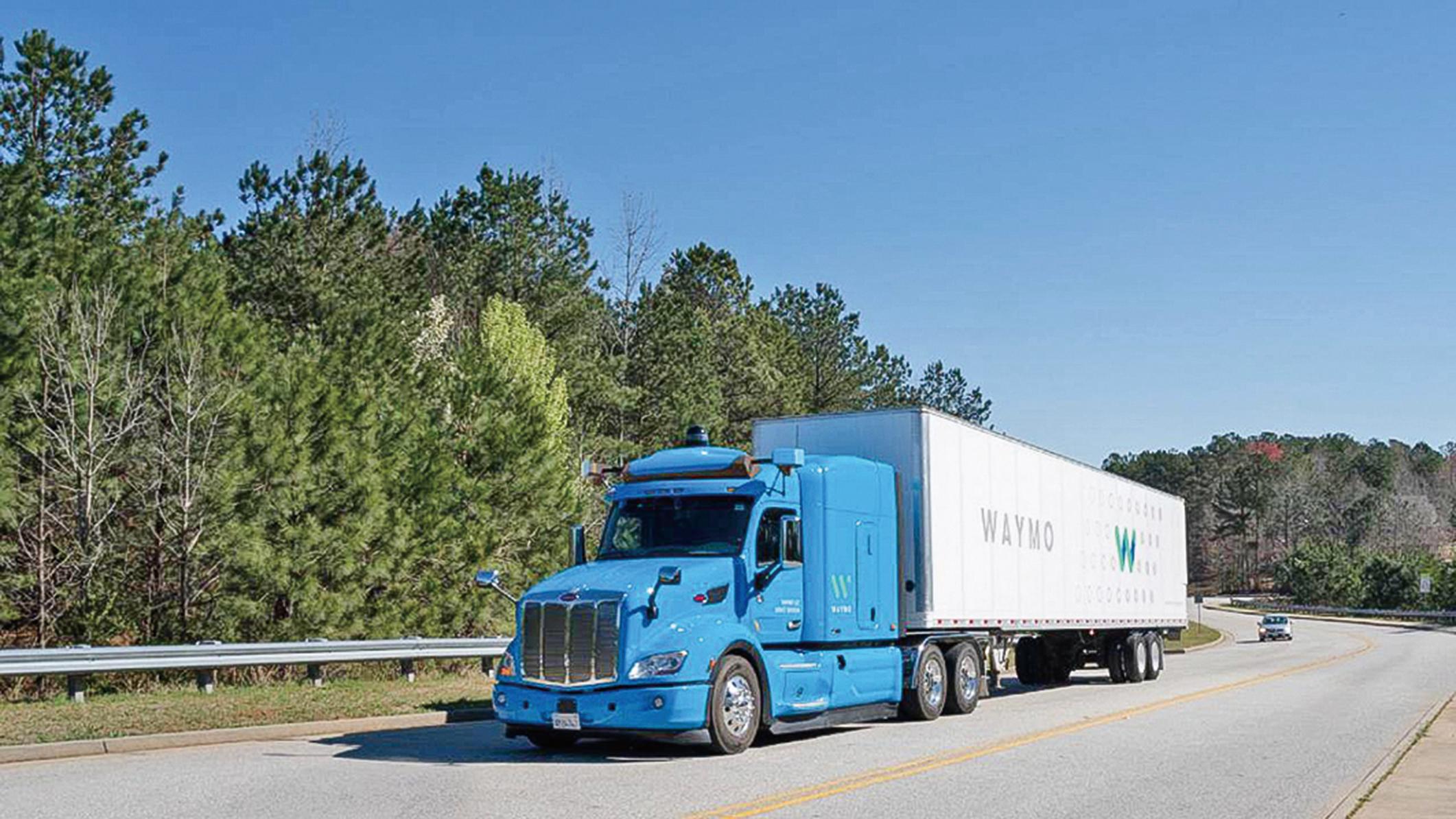 uWaymo的自動駕駛卡車,已經在美國多個州的公路上實際測試運貨。(Waymo)