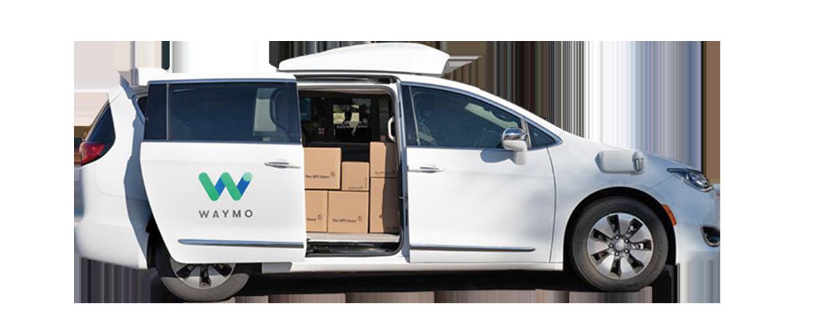 pUPS與Waymo聯手,將在鳳凰城地區,使用可以自動駕駛的克萊斯勒Pacifica廂式小貨車運送包裹。(UPS)