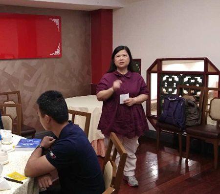 2020年2月10日,香港記者協會主席、《香港電台》採訪主任麥燕庭女士在會上發言。(主辦方提供)