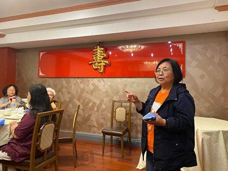 2020年2月10日,香港著名雜誌《開放》總編輯蔡詠梅女士在會上發言。(主辦方提供)