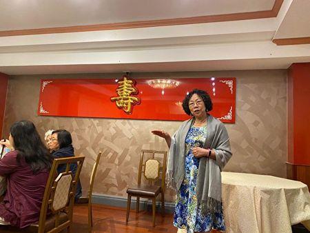 2020年2月10日,獨立中文筆會會長、德國著名民運人士廖天琪女士在會上發言。(主辦方提供)