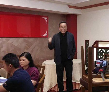 2020年2月10日,民主中國陣線主席、獨立中文筆會秘書長潘永忠在會上發言。(主辦方提供)