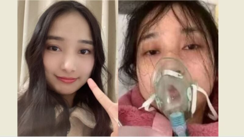 感染了中共病毒肺炎的湖北網民伯曼兒瀕死前發認錯影片,再次引發網絡輿論的關注。(網絡合成圖片)