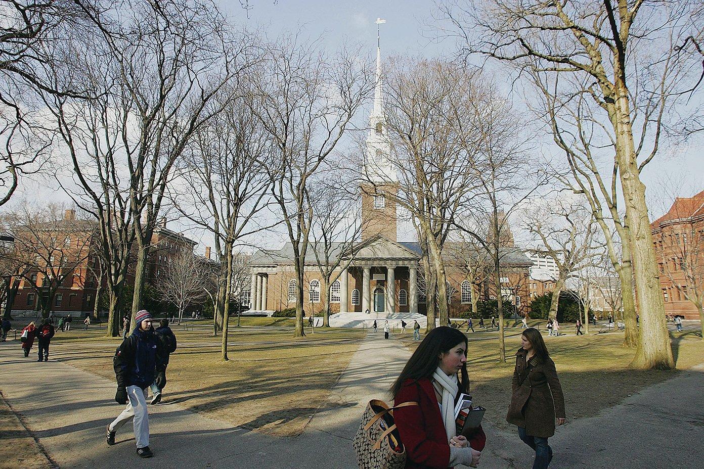 圖為冬日的耶魯大學。(Joe Raedle/Getty Images)