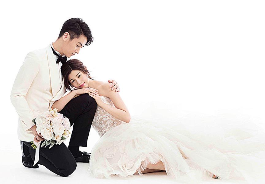 陳妍希婚紗裙褂名師設計 老公斟茶「迷失方向」