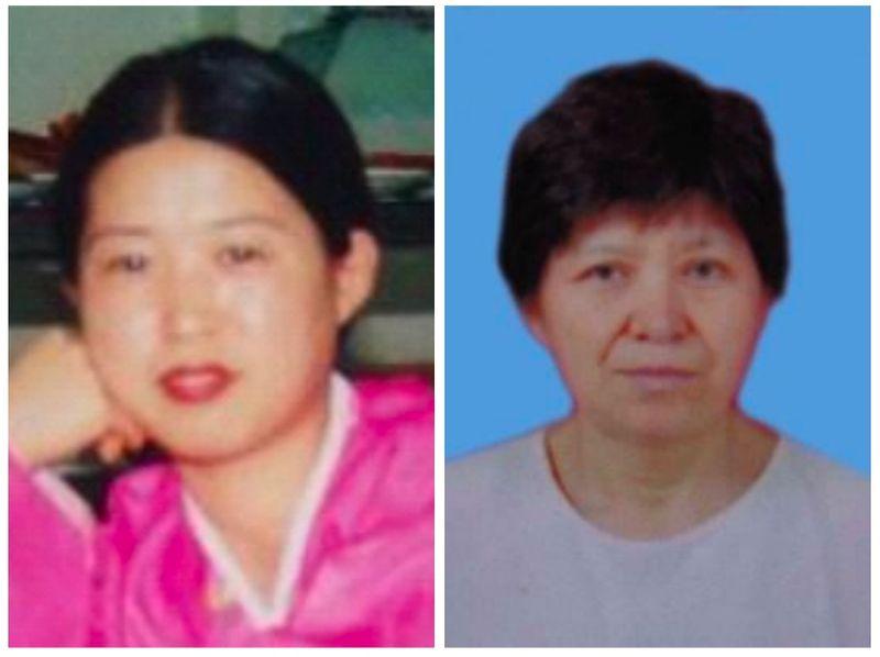 被中共迫害致瘋的李春蘭(左)和被迫害致死的金順女。兩人均為中國大陸朝鮮族法輪功學員(大紀元合成圖)。