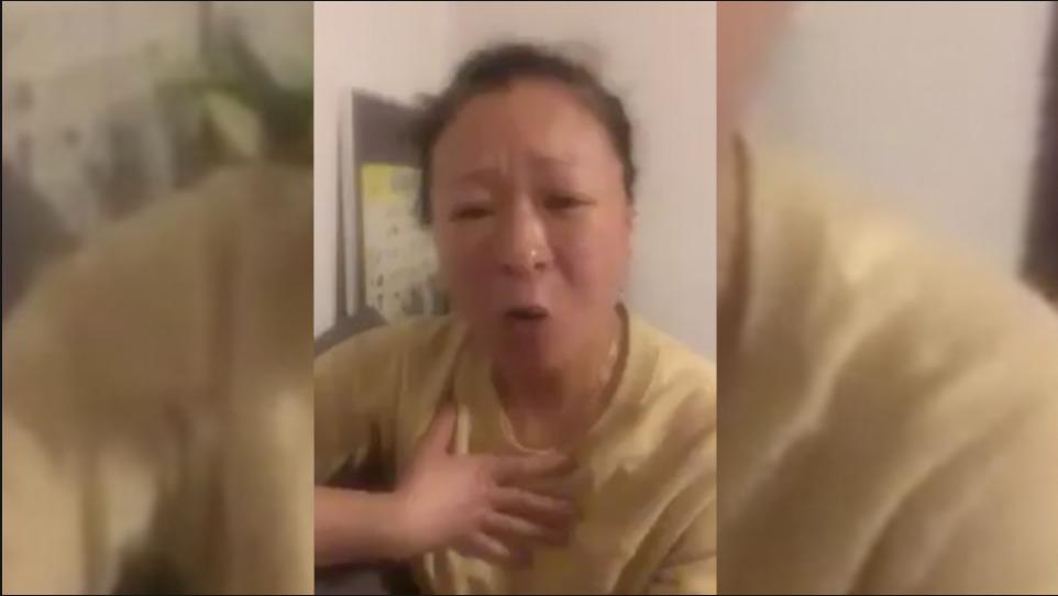 武漢女子淚流怒吼:央視講的全是假的 中共這個邪惡的政權