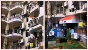 中國疫區「封樓」 居民無奈用水桶吊食物(影片)