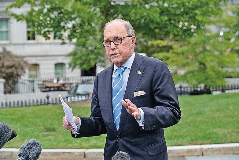 白宮首席經濟顧問庫德洛表示,特朗普政府預計在9月份推出減稅計畫。(AFP)