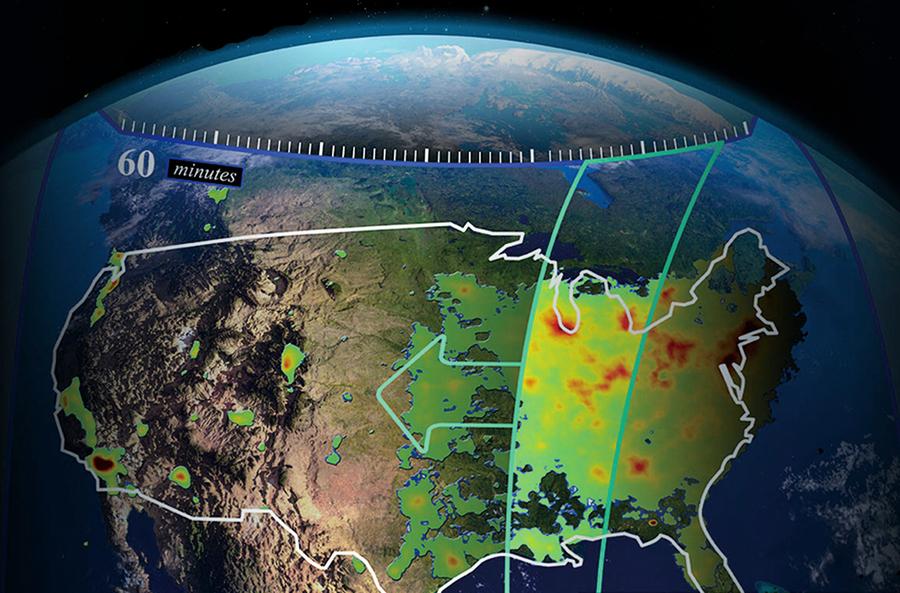 NASA將提供北美每小時空氣質量數據