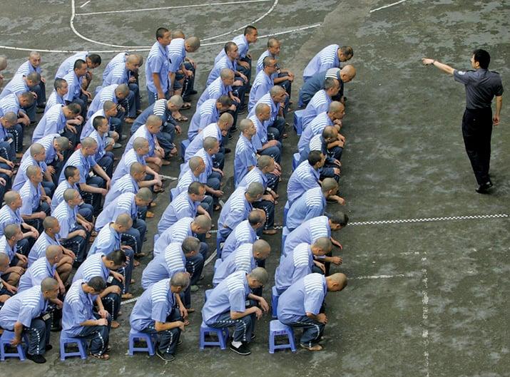 中共四川省、黑龍江省的監獄、戒毒所均實行戰時管理。圖為示意圖。(Getty Images)