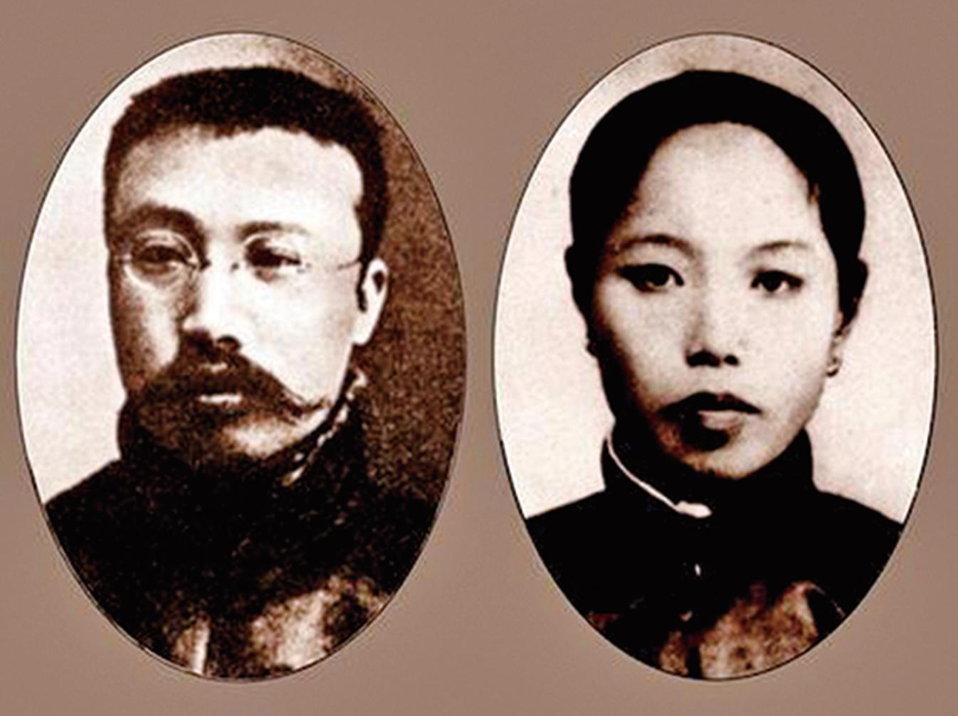 與蘇俄、中共勾結背叛自己祖國的李大釗及其夫人。(網絡圖片)