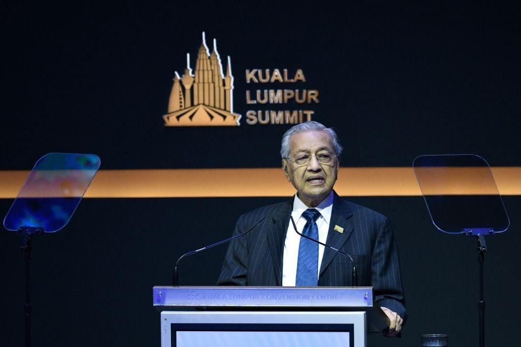 圖為,馬來西亞首相馬哈蒂爾。(MOHD RASFAN/AFP via Getty Images)