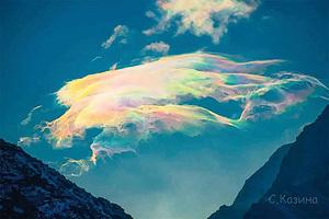 四千米高峰拍彩虹雲 網友:此生看過最美