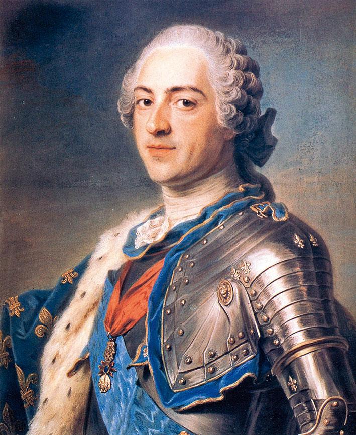 路易十五像。(公共領域)