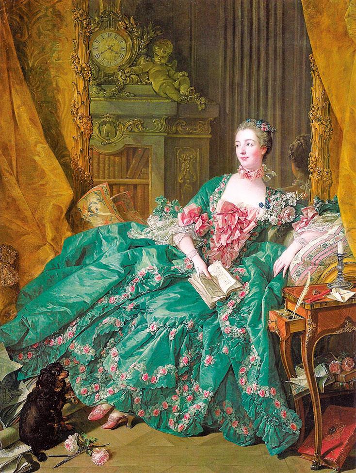 弗朗索瓦·布歇(François Boucher)繪製的龐巴杜夫人像。(公共領域)