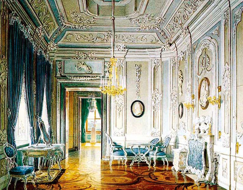 一個洛可可風的室內設計。(公共領域)