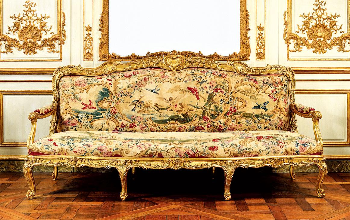 大都會博物館收藏的洛可可風家具(公共領域)