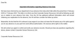 醫管局向罷工員工發信 工會強調為合法工業行動