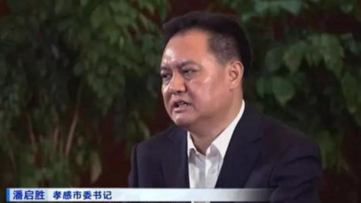 湖北孝感前市委書記潘啟勝黑老大背景及包養20多名情婦的醜聞遭曝光 。(影片截圖)