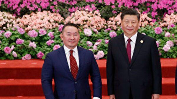 蒙古國總統27日訪問中國與習近平和李克強舉行會談,返國後被隔離。(影片截圖)