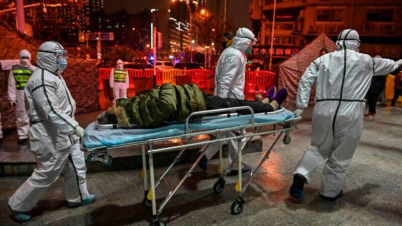 中共肺炎疫情肆虐,台灣專家分析至少有50萬人感染中共病毒。(HECTOR RETAMAL/AFP via Getty Images)