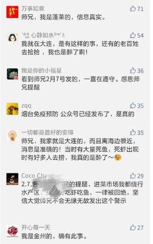 網友熱議渤海灣周邊海域污染嚴重,海邊頻現大量死魚死蝦。(網頁截圖)
