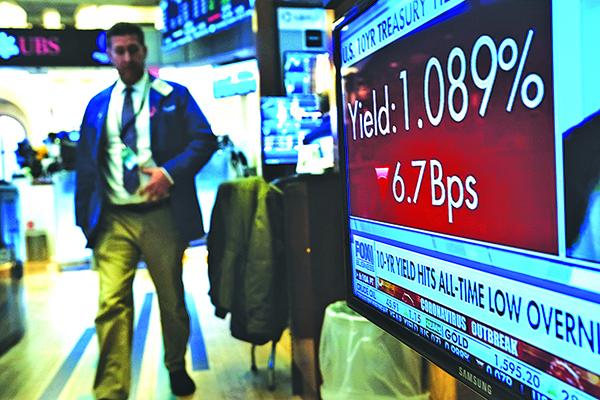 在上周慘跌之後,美聯儲有關減息的利多刺激3月2日道指大漲1293點,化解了持續崩跌的危機。(Getty Images)