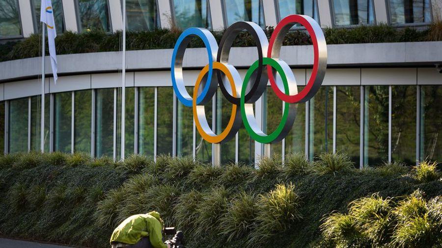 圖為瑞士洛桑國際奧委會總部外景。(FABRICE COFFRINI/AFP via Getty Images)