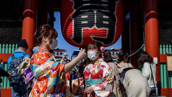 中共肺炎疫情蔓延日本。(PHILIP FONG/AFP via Getty Images)