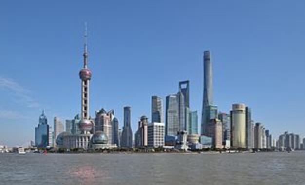 OECD:新冠疫情重創中國經濟。圖為上海市中心。(維基百科)