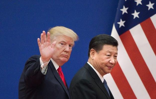 特朗普與習近平,2017年11月9日在北京。 (Nicolas Asfouri/AFP/Getty Images)