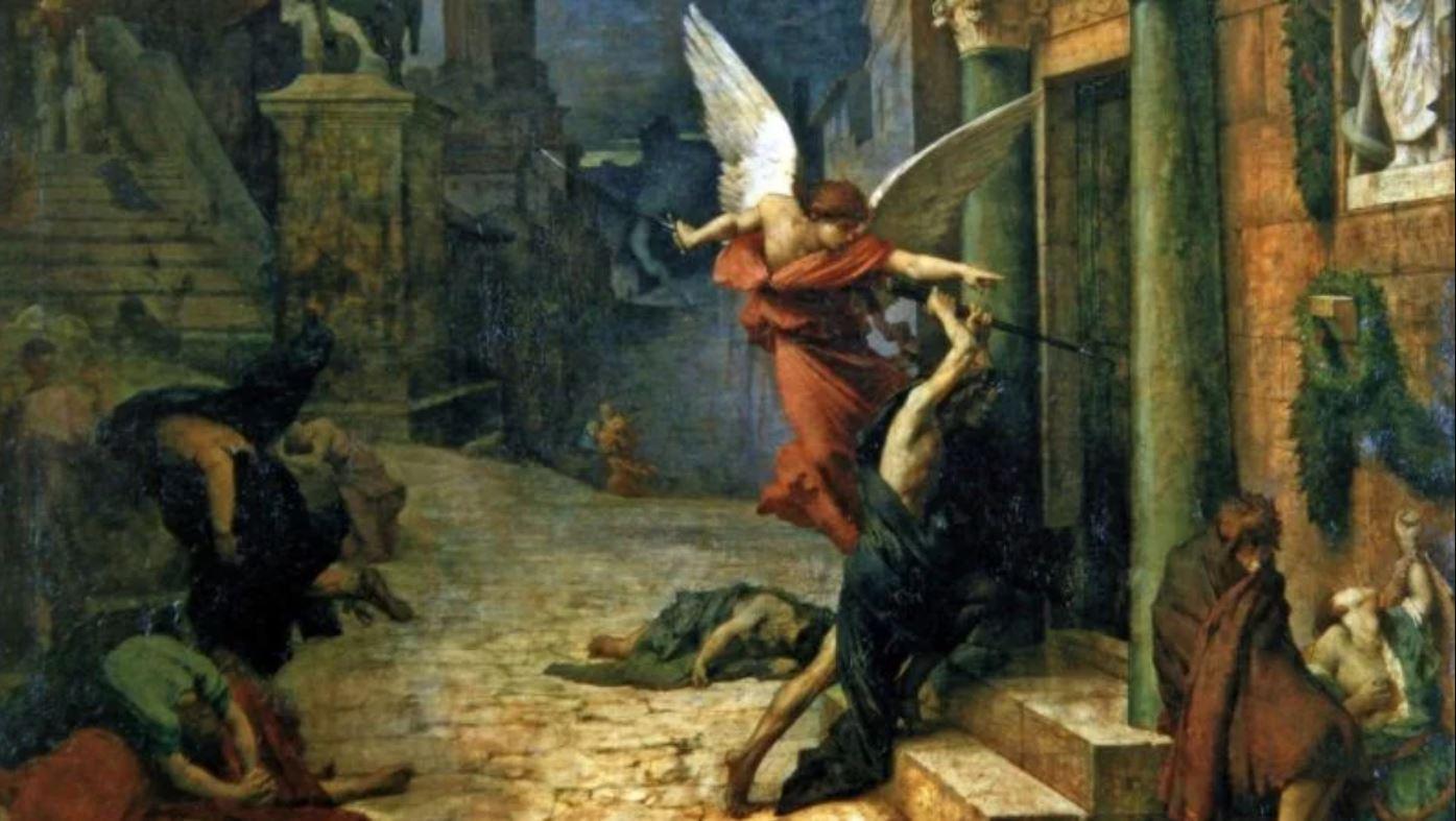[法]居勒・埃里・德洛內(Jules Elie Delaunay,1828-1891),《被瘟疫侵襲的羅馬城》(PesteaRome),1869年作,巴黎奧塞美術館藏。(藝術復興中心提供)
