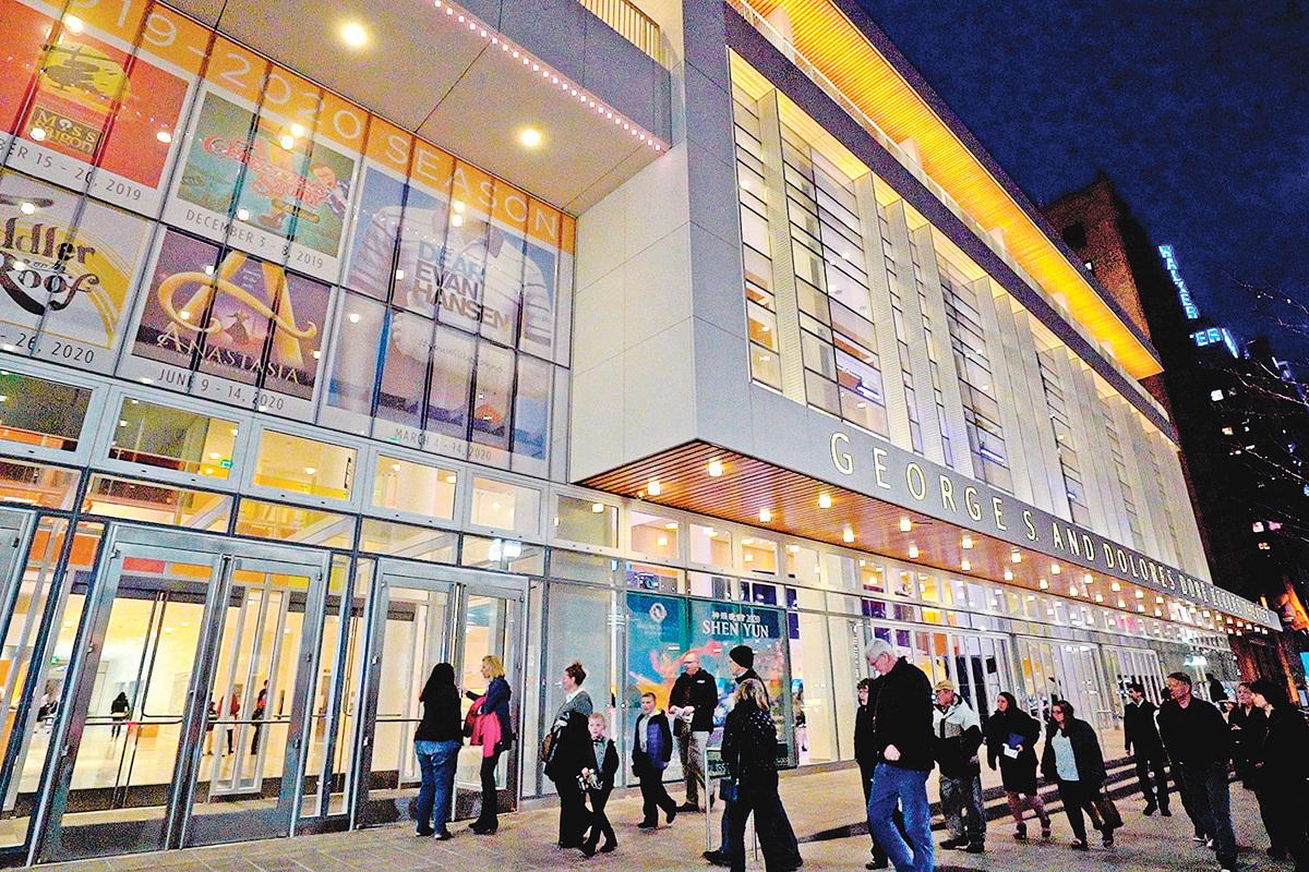 2020年2月26日晚,神韻北美藝術團在美國鹽湖城George S. and Dolores Dore Eccles 戲院上演了今年在當地的第二場演出。票房再次爆滿。(新唐人)
