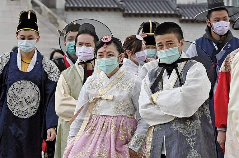 截至當地時間3月5日,南韓迄今共感染6,088宗武漢肺炎。(AFP)