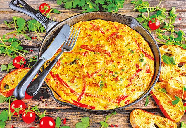 意大利烘蛋被稱為「清冰箱料理」,因為製作時可以加入多樣食材。