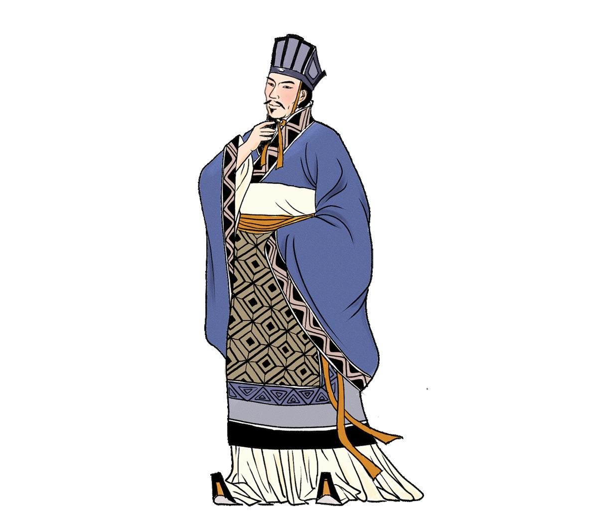 ▲ 叔孫通,西漢初期儒家學者,曾協助漢高祖制定漢朝的宮廷禮儀。