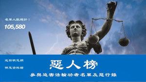 誣判法輪功學員 昆明中院法官張兆龍上惡人榜