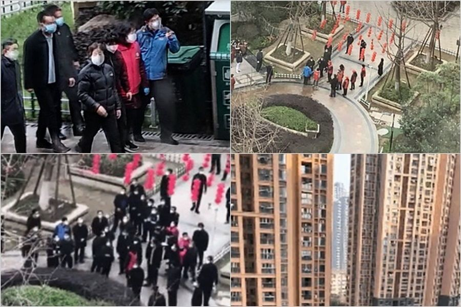 網傳向孫春蘭喊話的武漢開元小區被封死