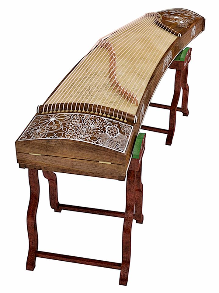 箏因為帶有秦國音樂的特色,又與蒙恬有關,所以被稱為「秦箏」(fotolia)