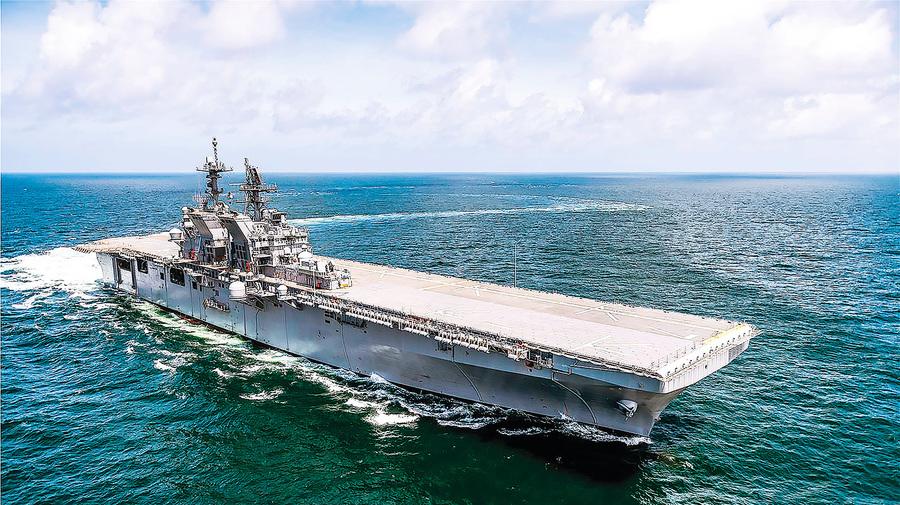 美兩棲突擊艦 「的黎波里號」入役