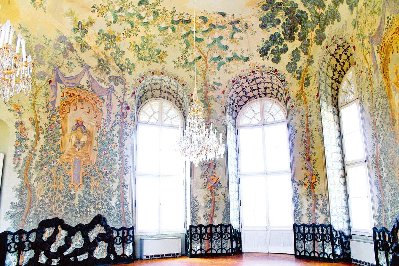 奧地利的巴洛克式宮殿、下維登城堡(Schloss Niederweiden) 宴會廳中國裝飾(。Kwerdenker/Wikimedia Commons)