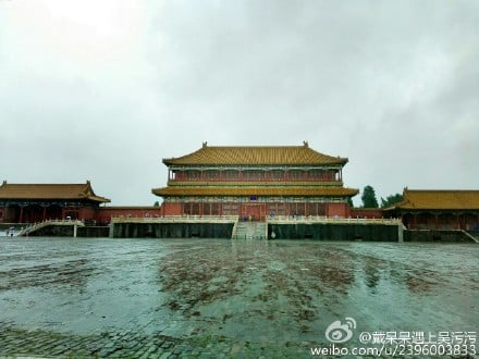 暴雨過後,故宮內無明顯積水。(網絡圖片)
