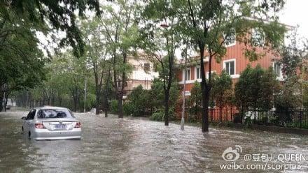現代修建的排水系統,造成北京部分區域嚴重內澇。(網絡圖片)