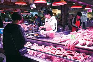 2月豬肉價格同比暴漲135.2%