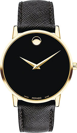 Movado手錶,風格簡約,是一些崇尚minimalism時尚達人的首選。(Movado)