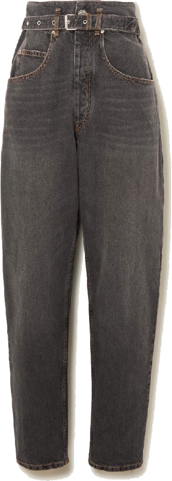 ISABEL MARANT 高腰牛仔褲。 (net-a-porter.com)
