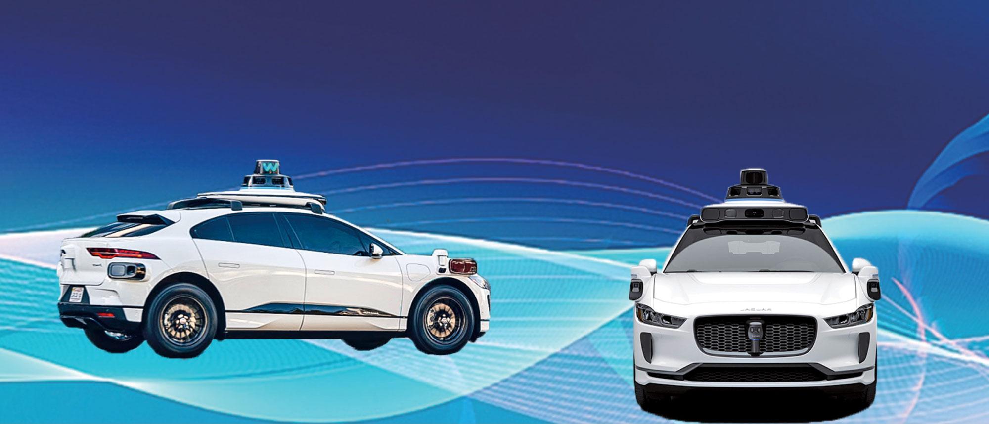 Waymo新一代系統,將首先用在即將推出的Jaguar I-Pace電動SUV上。圖為行駛在三藩市的自動駕駛版I-Pace。(Waymo)