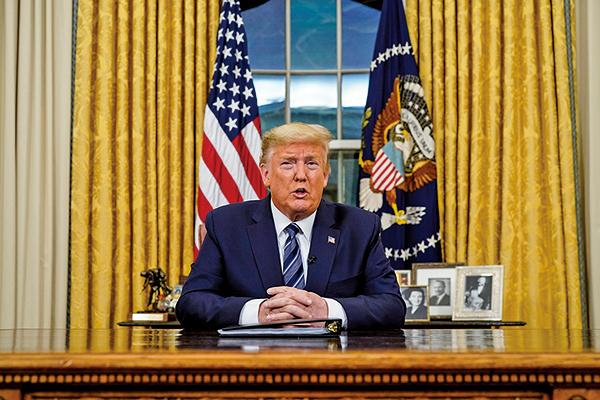 美國總統特朗普推出新措施。從3月13日午夜起,實施為期30日的旅遊限制,所有歐洲遊客不得入境美國。(Getty Images)